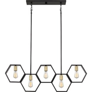 Wrought Studio Themis 5-Light Geometric Chandelier