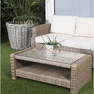 Rozlynn Aluminium And Rattan Coffee Table By Sol 72 Outdoor