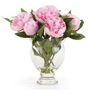 Peony Floral Arrangement in Vase