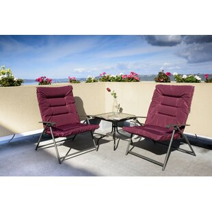 Surfwood 3 Piece 2 Person Seating Group with Cushions