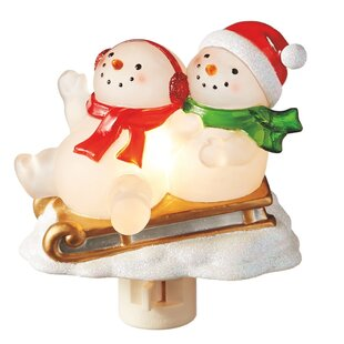 Comparison Snowmen on Sleigh Night Light By The Holiday Aisle