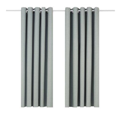 Eclipse Eyelet Blackout Thermal Curtains Wayfair Basics™ Colour: Duck Egg Blue, Panel Size: 168 W x 137 D cm