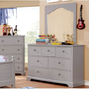 Harriet Bee Evanoff 7 Drawer Dresser with Mi..