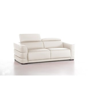 Faning Genuine Leather Fold Out Sofa Bed By Wade Logan