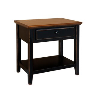 Deluxe End Table with Storage by Charlton Home