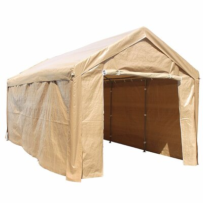 Heavy Duty Outdoor 10 Ft. W x 20 Ft. D Canopy ALEKO Color: Beige