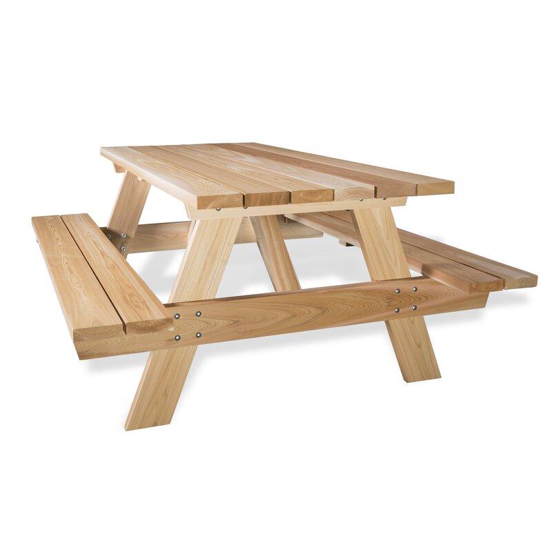 All Things Cedar Cedar Picnic Table | Wayfair