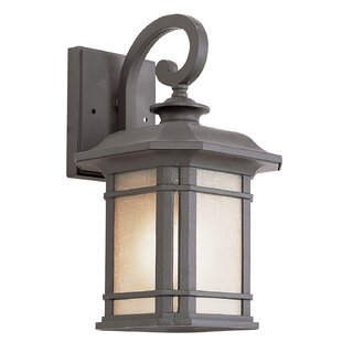 Affordable Price Newbury 1-Light Outdoor Wall Lantern By Loon Peak
