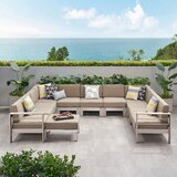 Destinee Outdoor 10 Piece Sectional Seating Group with Cushions by Orren Ellis