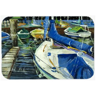 Night on The Docks Sailboat Kitchen/Bath Mat