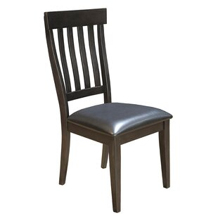 Alder Slatback Upholstered Side Chair Loon Peak