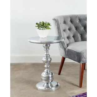 Darby Home Co Bessette Turned Base Aluminum End Table