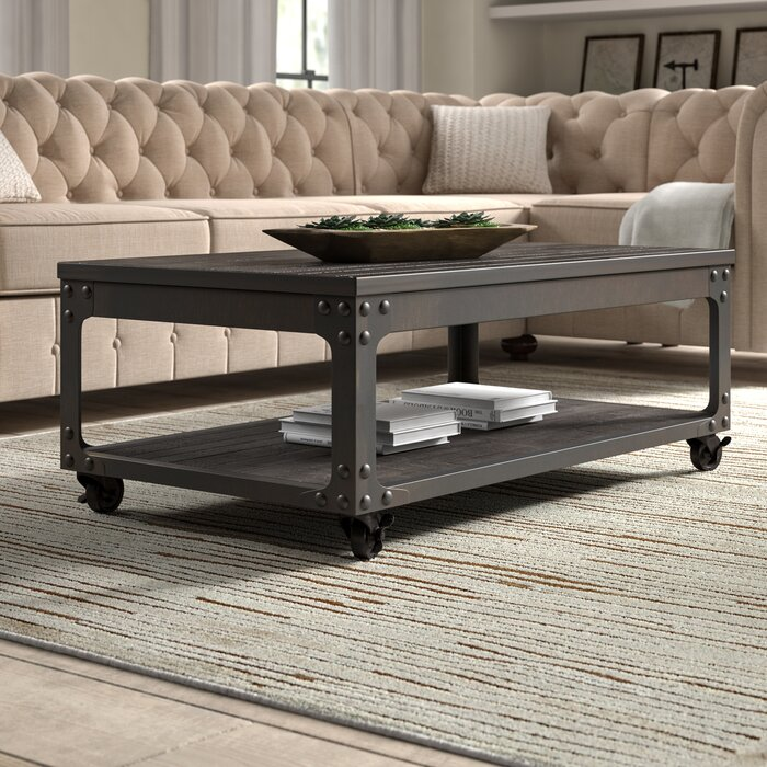 Metal Lift Top Coffee Table 4