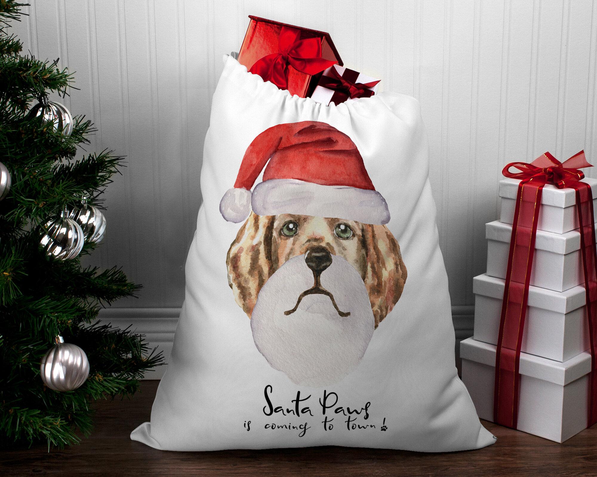 Kavka Santa Paws Is Coming To Town Santa Bag By Terri Ellis Wayfair