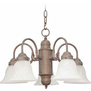 Three Posts Emington 5-Light Shaded Chandelier