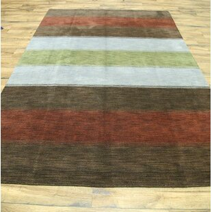Seidman Oriental Hand-Knotted Wool Charcoal/White Area Rug By Bloomsbury Market