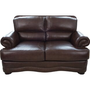 Darby Home Co Eldora Leather Loveseat