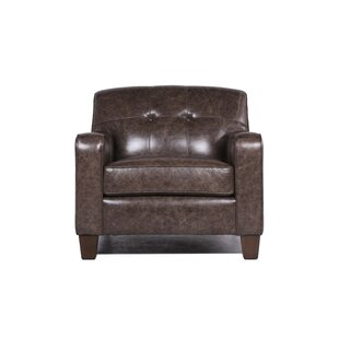 17 Stories Daly Leather Club Chair