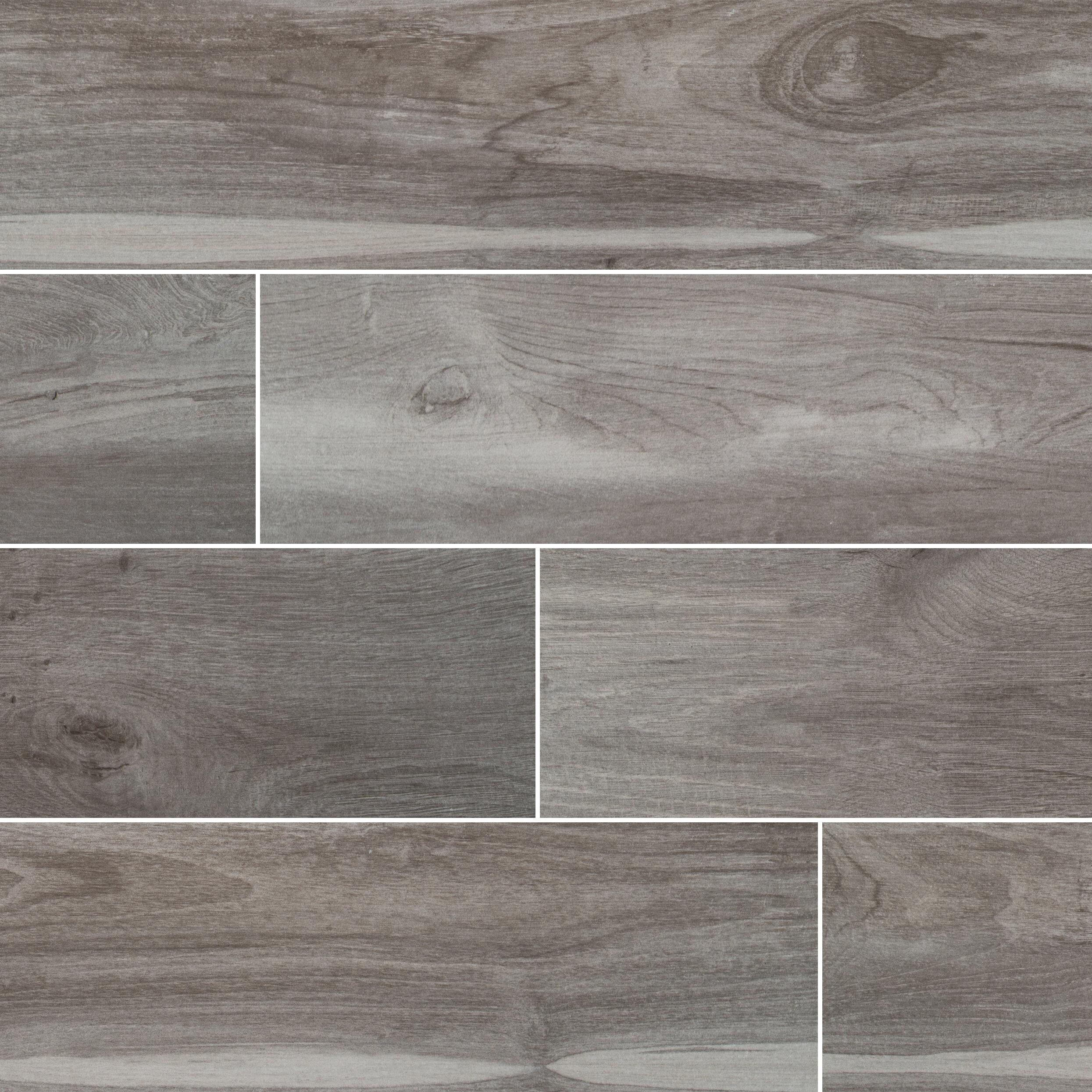 Msi French Oak Nero 6 X 36 Ceramic Wood Look Field Tile