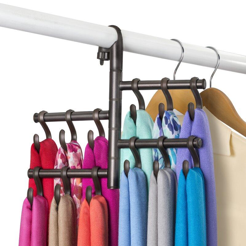 Hanging Pivoting Scarf Holder   Jewelry, Belt, Accessory Hanger  Rack Closet  Organizer