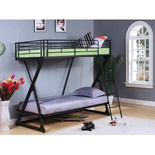 Glenfield Metal Twin over Twin Bunk Bed by Harriet Bee