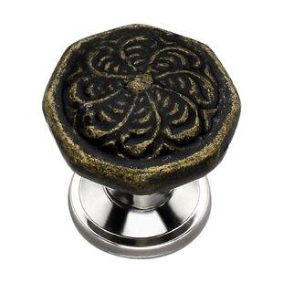 Handpainted Octagon Swirl Novelty Knob (Set of 8)