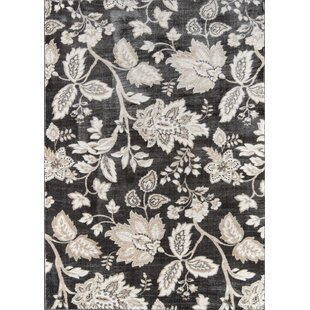 Buying Mardell Charcoal/Black Area Rug By Charlton Home