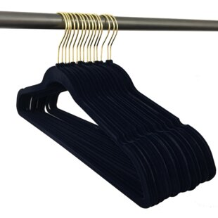 Best Reviews Ultra Thin, Non-Slip Hangers with Gold Hooks (Set of 150) By Closet Complete