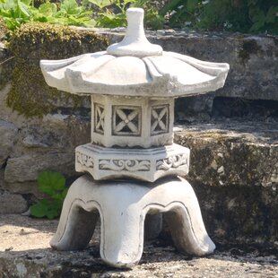 Pagoda Low Antique Stone Effect Statue