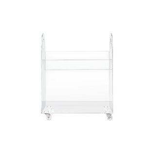 Presto Acrylic 26 Bookcase and Cart by babyletto