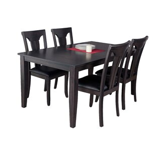 Haan Modern 5 Piece Solid Wood Dining Set..