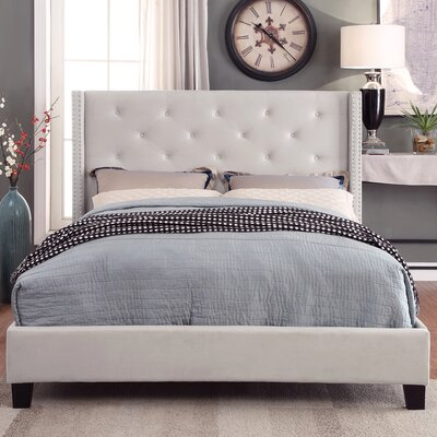 !nspire King Velvet Platform Bed