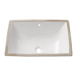 Great choice Ceramic Rectangular Undermount Bathroom Sink with Overflow By Avanity
