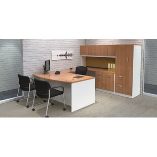 Trendway Intrinsic 4 Piece U-Shape Desk Office Suite with Tower Suite