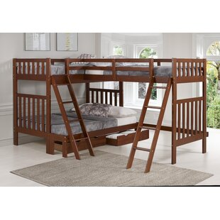 Affordable Crescent Twin Over Full Triple Bed with Drawers by Harriet Bee Reviews (2019) & Buyer's Guide