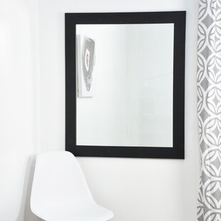 Best Tremblay Black and White Designer Wall Mirror By Brayden Studio