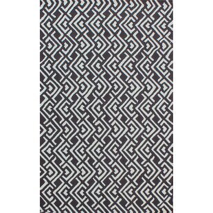 Find a Zubair Reversible Black/White Outdoor Area Rug By Latitude Run