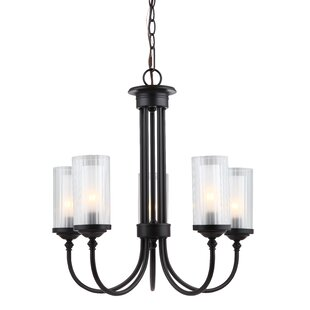 Alcott Hill Neiman 5-Light Shaded Chandelier