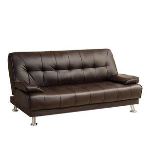 Latitude Run Jhunjhunwala Leatherette Convertible Sofa