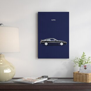 'Toyota Supra Turbo' Graphic Art Print on Canvas By East Urban Home