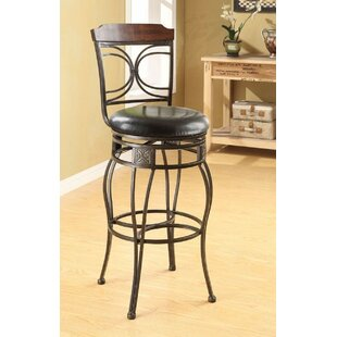 Trevino 29 Swivel Bar Stool (Set of 2) Fleur De Lis Living