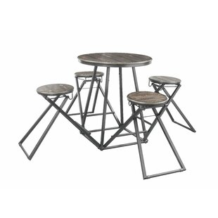 Holguin 5 Piece Pub Table Set