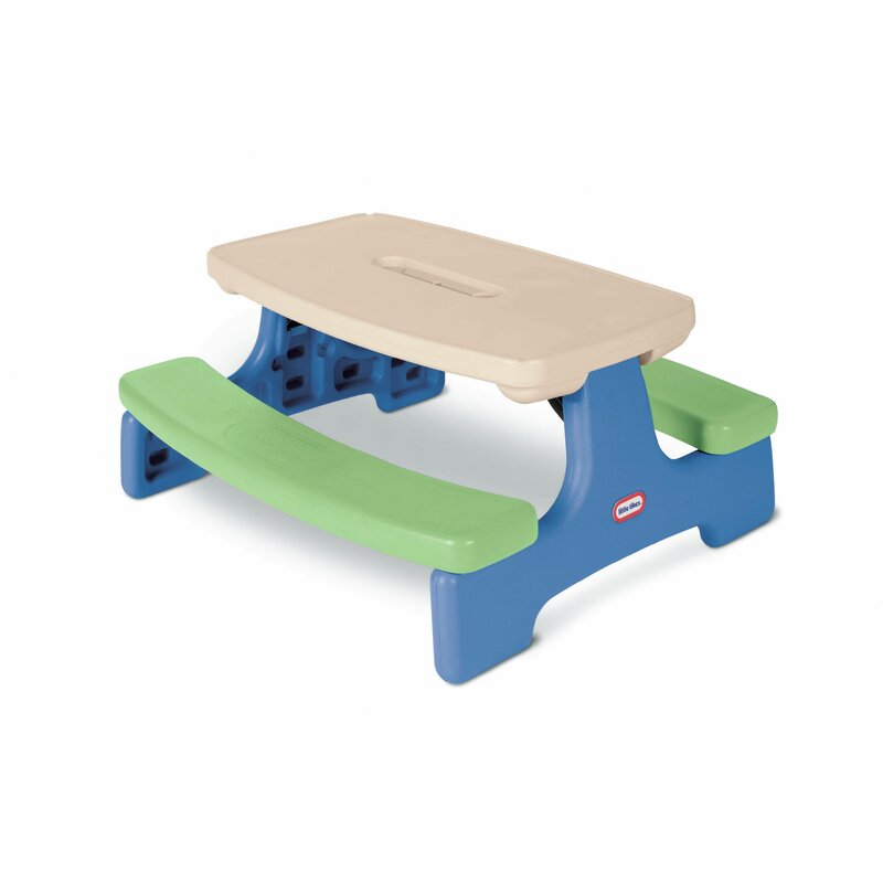 Little Tikes Easy Store Picnic Table Reviews Wayfair Ca