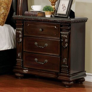 Graceville 3 Drawer Nightstand by Astoria Grand