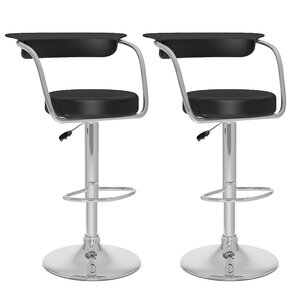 CorLiving Adjustable Height Swivel Bar Stool (Set of 2) by dCOR design
