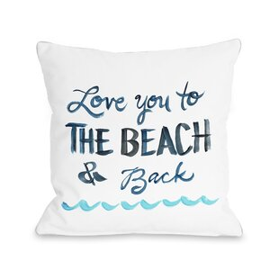 Holsinger Love You To The Beach Outdoor Throw Pillow