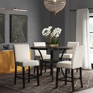 Haysi Espresso Wood 5 Piece Dining Set