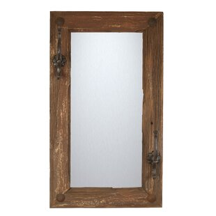 Top Reviews Old Door Rustic Hat Rack Wall Mirror By My Amigos Imports