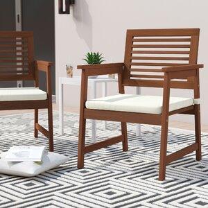 Arianna Teak Hardwood Outdoor Chair (Set of 2)