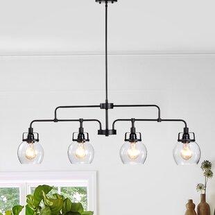 Friese Linear 4-Light Kitchen Island Pendant by Gracie Oaks
